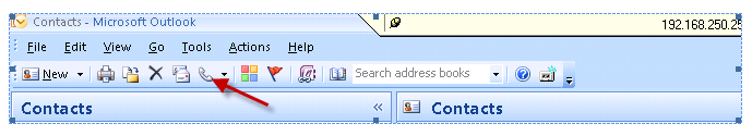 outlook1 How to cause a ShoreTel phone to dial from within Outlook