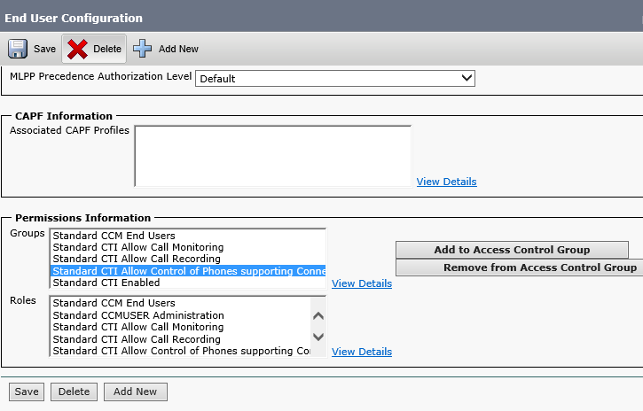 CTIPemissions Configuring Compliance Recording with CISCO Workforce Optimzaiton
