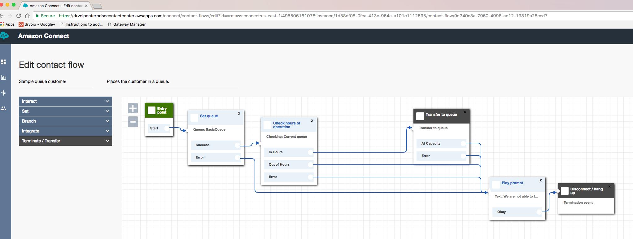 AWS_EditContactFlows AWS Call Center - Our First Impressions & Demo!