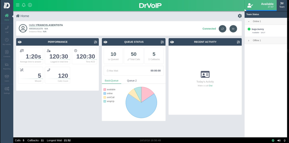 DashBoard1 Customize your AWS Connect CCP Agent Dashboard!