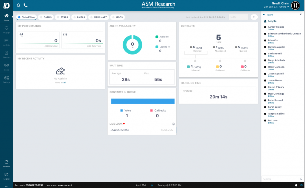 ASM_Dashboard-1024x632 AWS Connect Case Study - ASMR  an Accenture Federal Service Company!